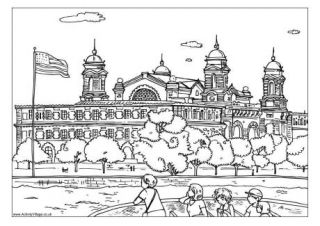 Ellis Island Colouring Page…and lots of other FREE