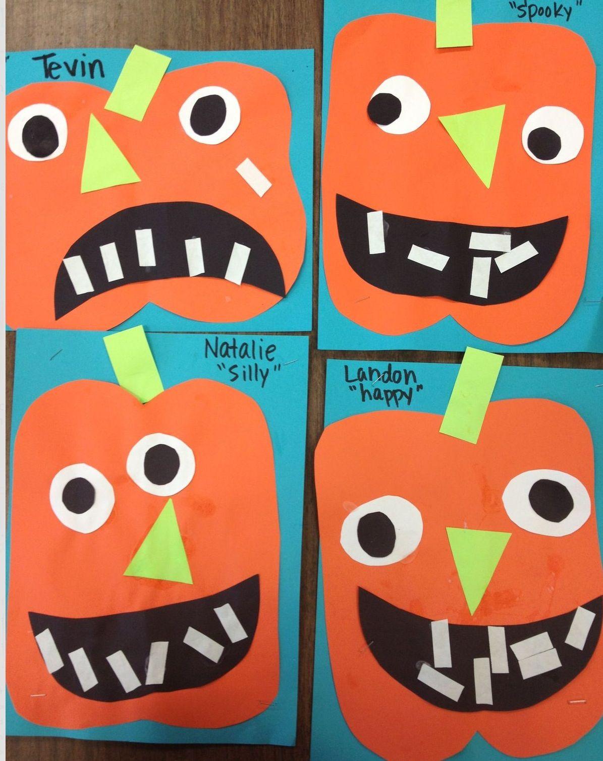 Preschool Pumpkin Jack O Lantern