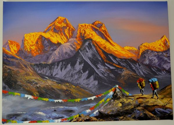 Paintings Nepal Golden Lining