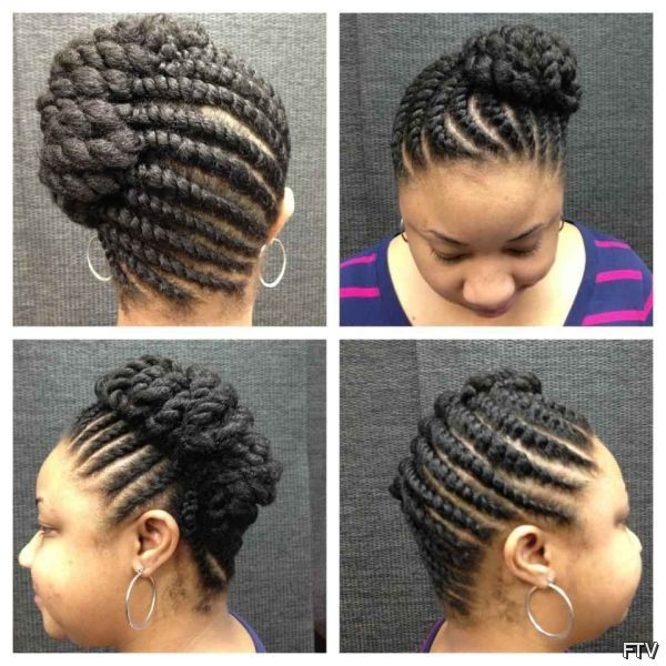 African Flat Twist Updo Hairstyles Video FashionTV Twist