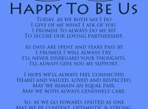 Happy To Be Us - A modern romantic wedding vows poem by ...