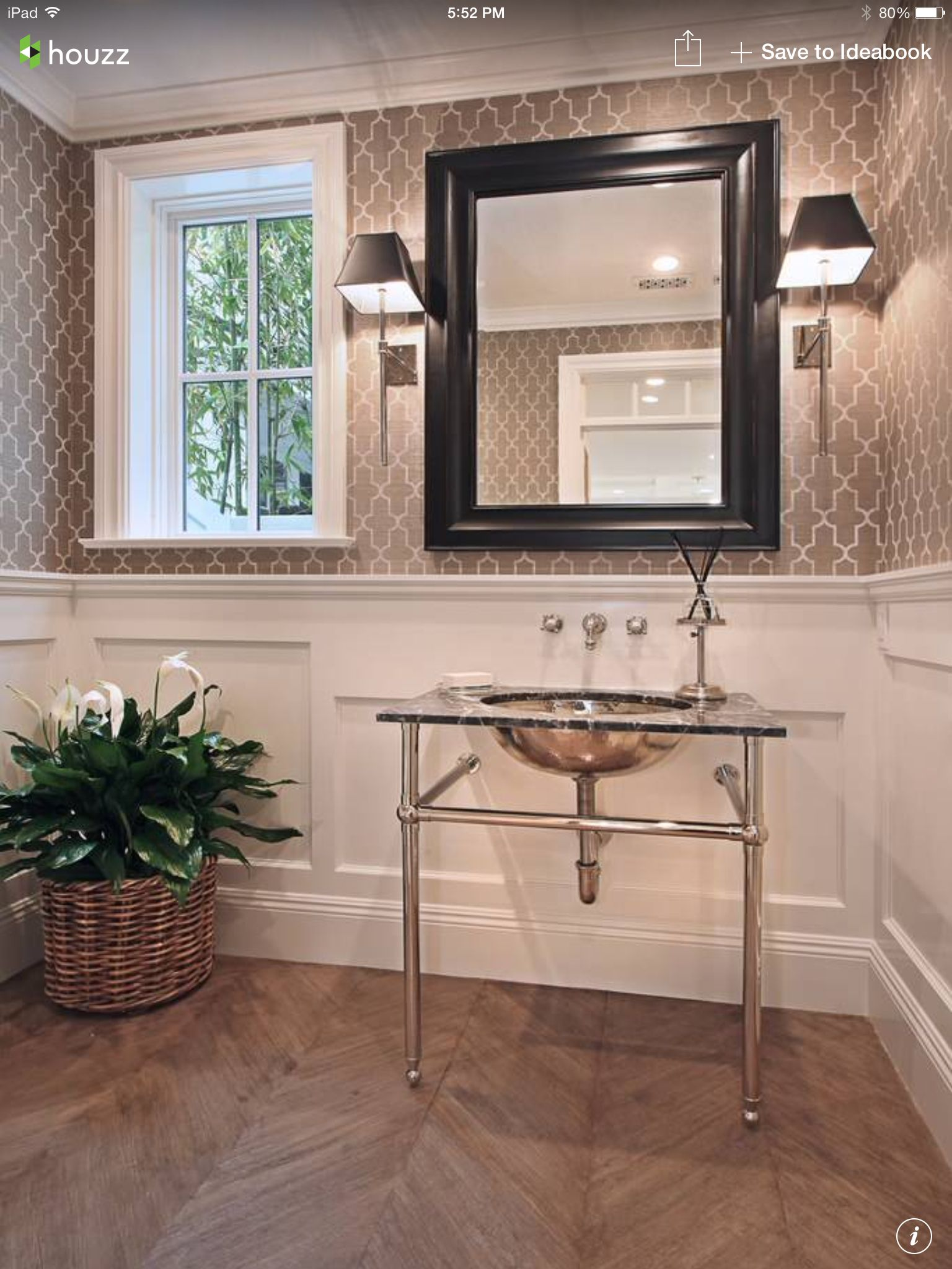 pictures of chair rails in bathrooms outdoor cushion covers australia graphic wallpaper above the rail dining room