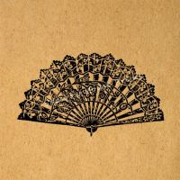 Chinese Fan Print Wall Art Oriental Fan Home Decor Antique ...