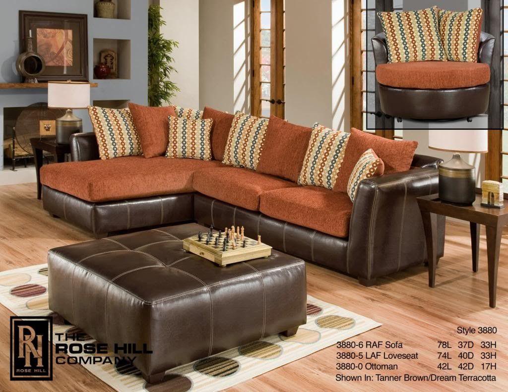 rose hill furniture trapper brown / dream terracotta complete
