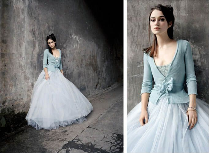 keira knightley short wedding dress