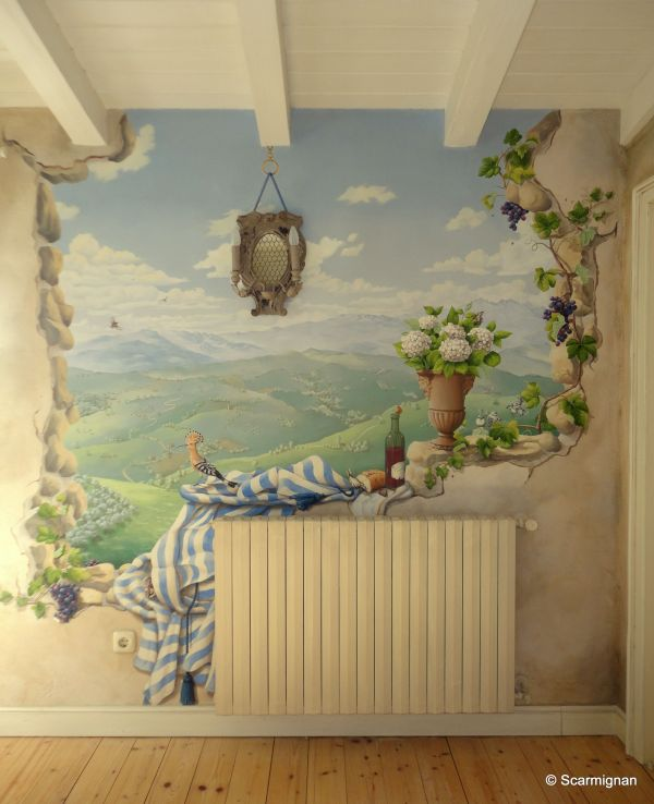 Through the Wall Mural Painting