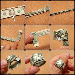 Money Origami Diagram Samsung Steam Dryer Wiring How To Make A Ring Out Of Dollar  Howsto Co
