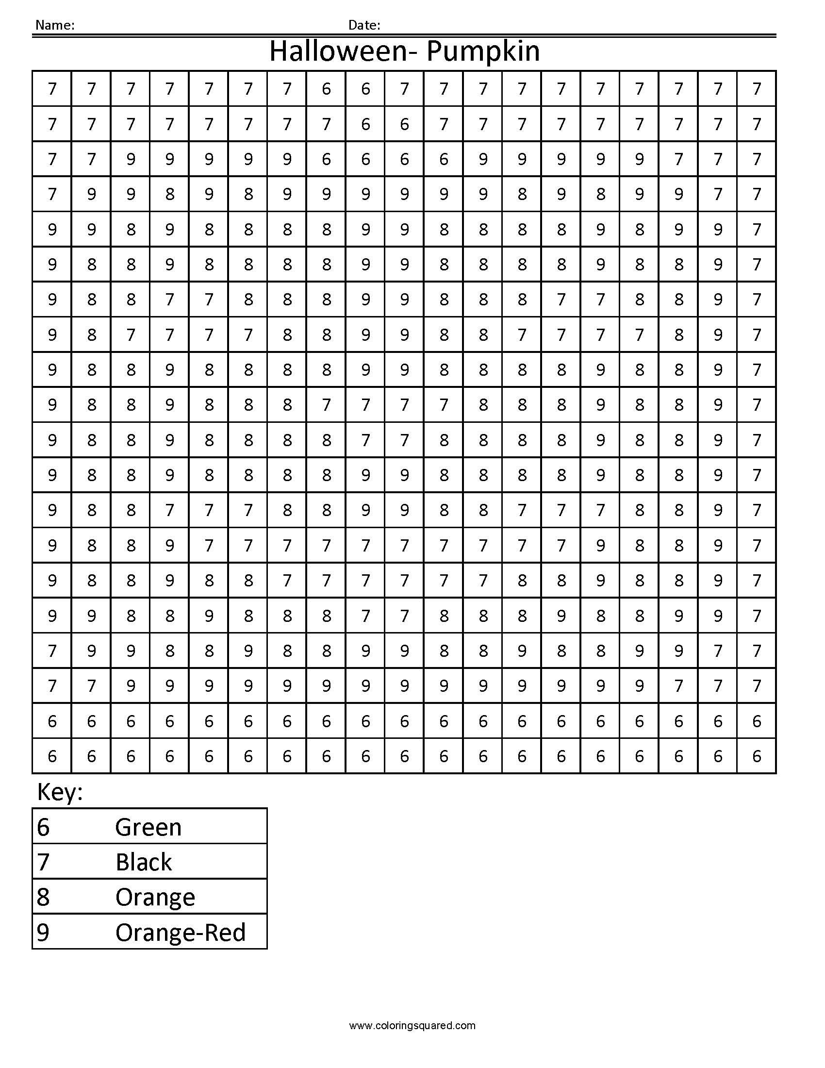 Halloween Mixed Numbers Worksheet