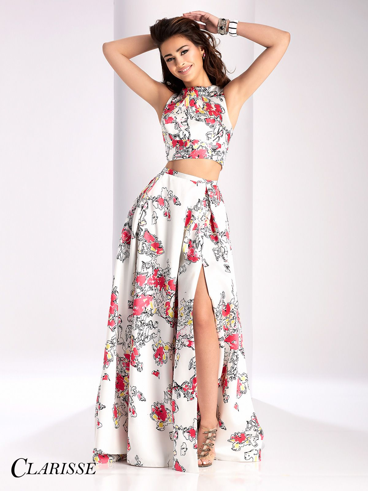 Clarisse Two Piece Print Prom Dress 3002  Unique prom