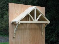 wood door awning kit