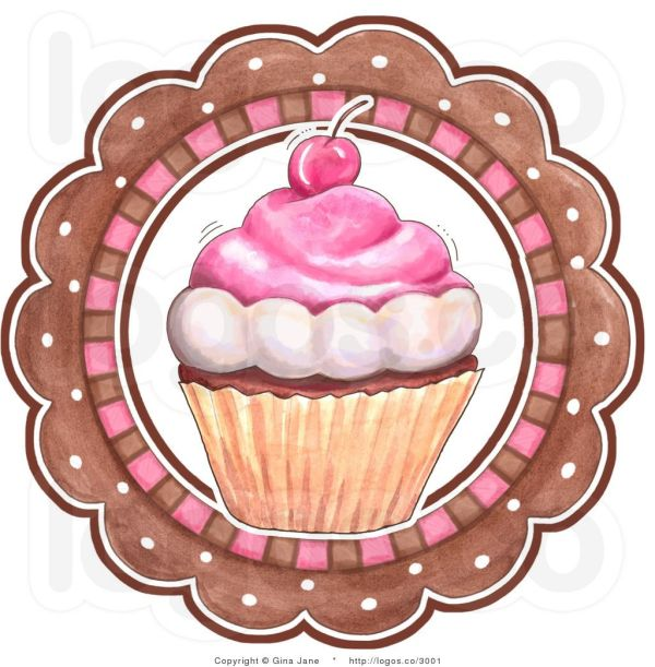 royalty free vector of cupcake
