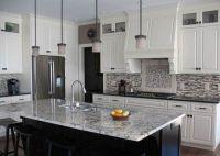 white ice granite countertops white cabinets modern ...