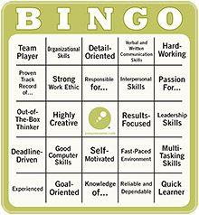 resume Bingo  humor  Career Center Items  Pinterest