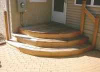 Exterior:Mesmerizing Stair Step For Entrance Outdoor ...