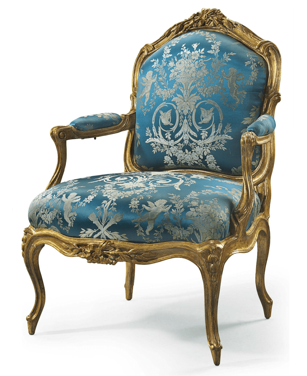 louis xv chair invacare power chairs a giltwood fauteuil la reine by jean jacques