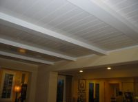 White wood ceiling planks   That's What She Shed ...