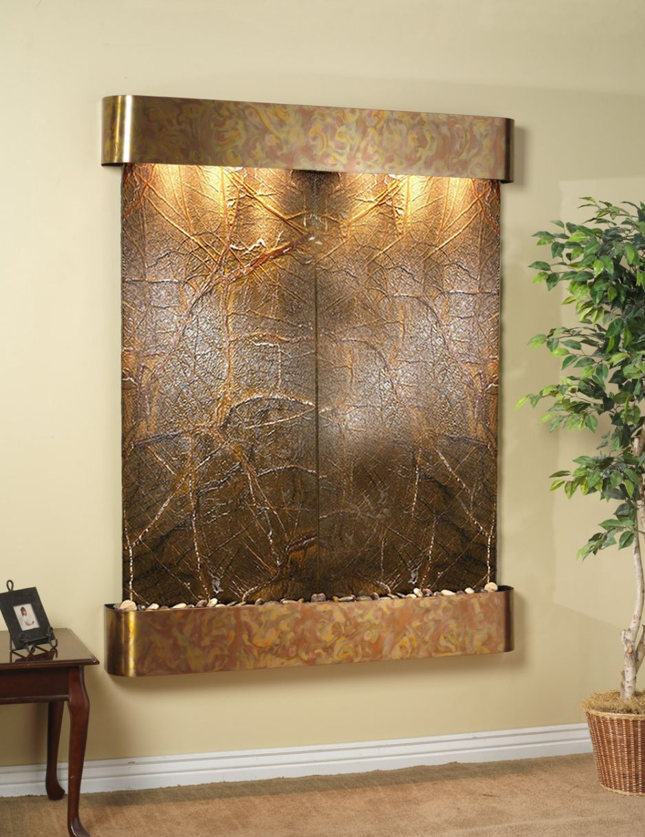 Design Ideas. Awesome Indoor Wall Mounted Fountains Wall