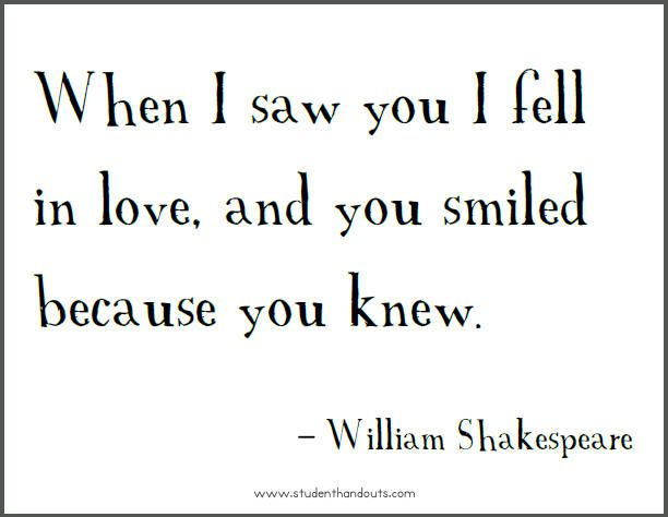 Famous Shakespeare Love Quotes Entrancing Famous Shakespeare Love Quotes And Meanings Picture
