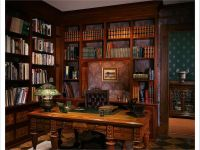Victorian Gothic interior style (fiction) Elliott's office ...