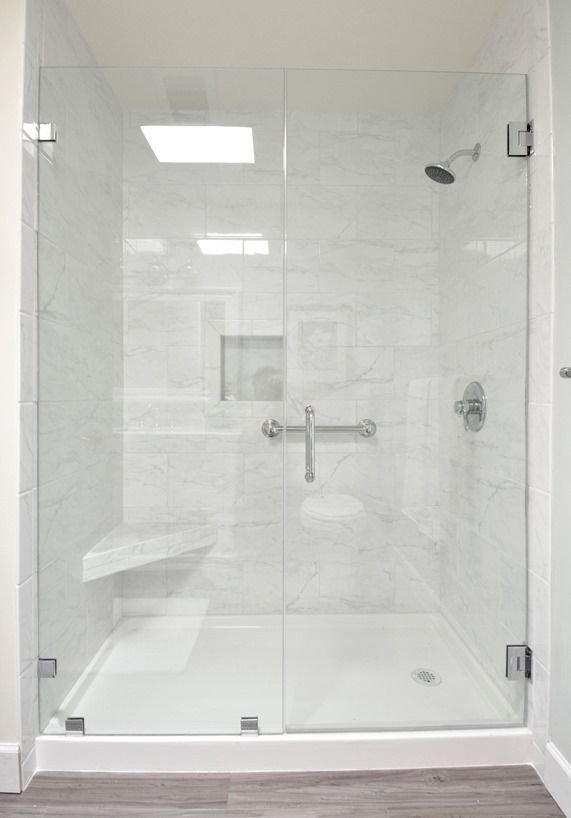 Step by Step DIY Bathroom remodel Tubshower combo replaced with a walk in shower The shower
