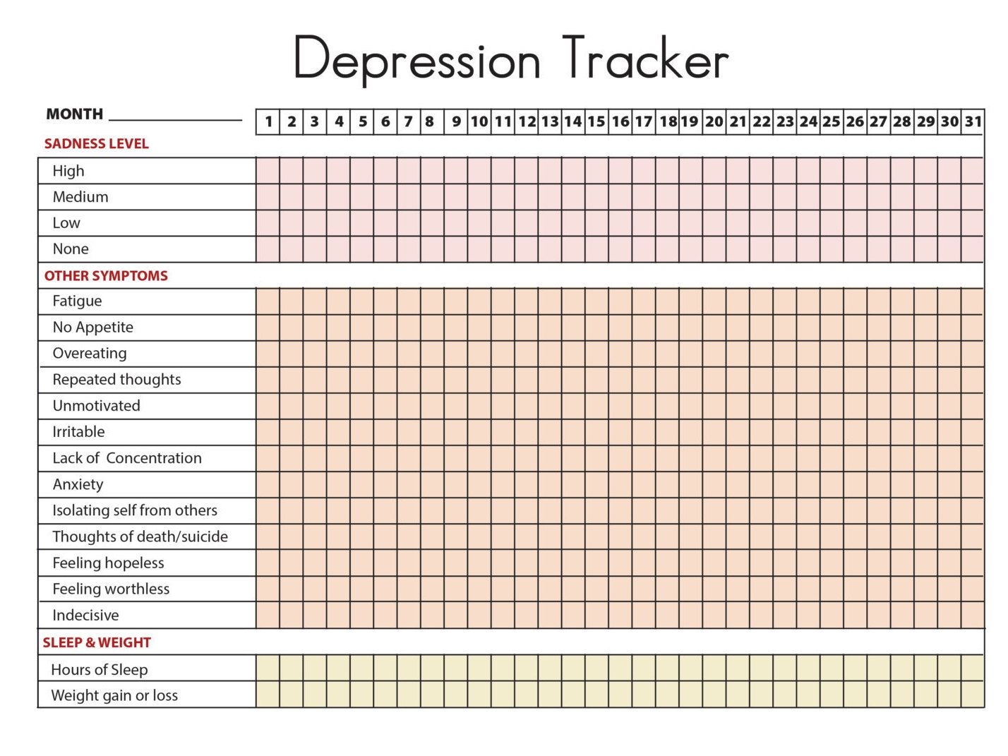 Depression Symptoms Tracker Amp Sleep And Weight By Therapyaids