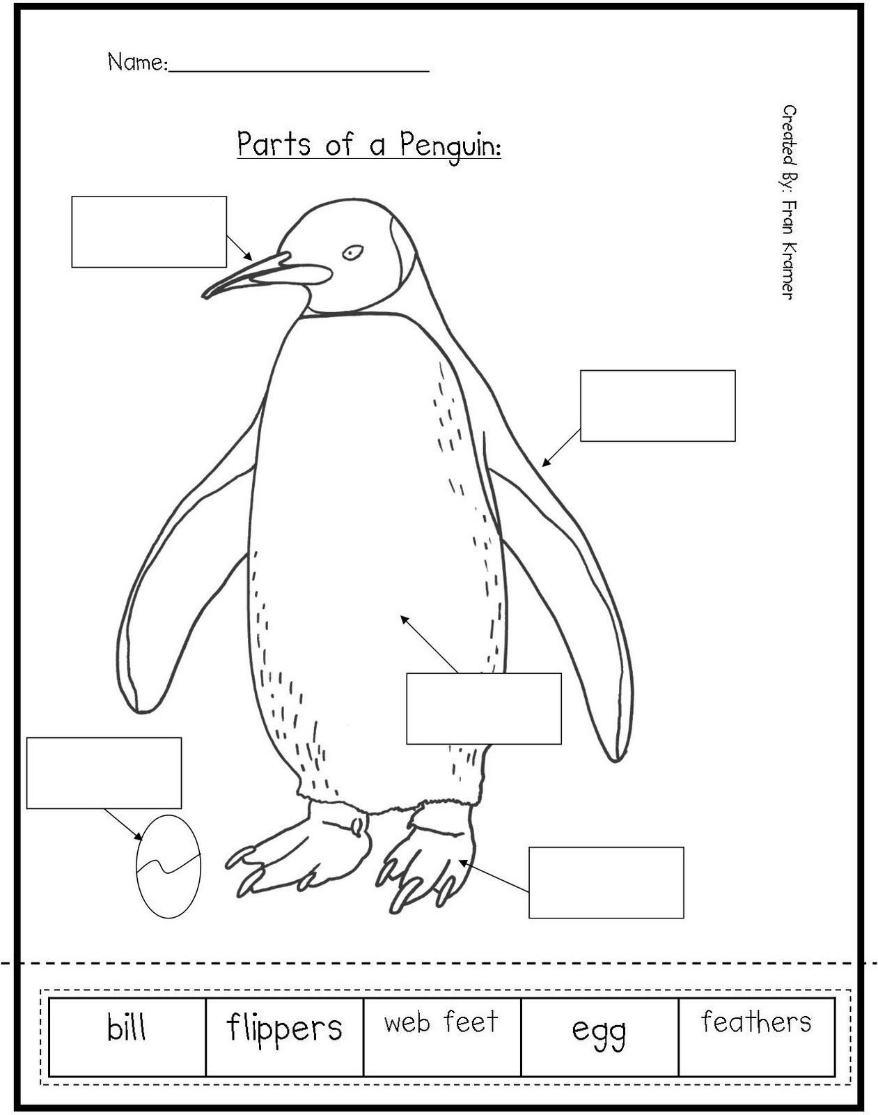 Penguin Worksheets For Preschool