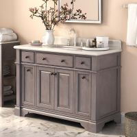 "Lanza Casanova 48"" Single Vanity with Backsplash & Reviews"