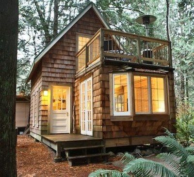 A Tiny Cabin With Balcony And Small Space Ideas Galore Tiny