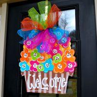 Door Hanger Spring Door Decoration Flower Door by ...