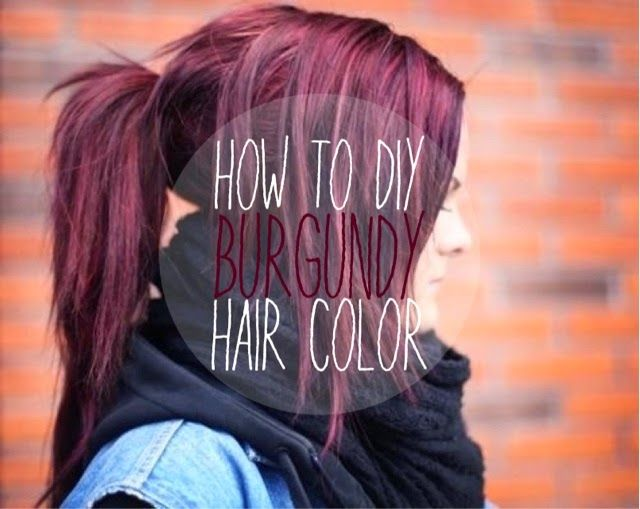 Burgundy Mixed With Purple Hair Dye