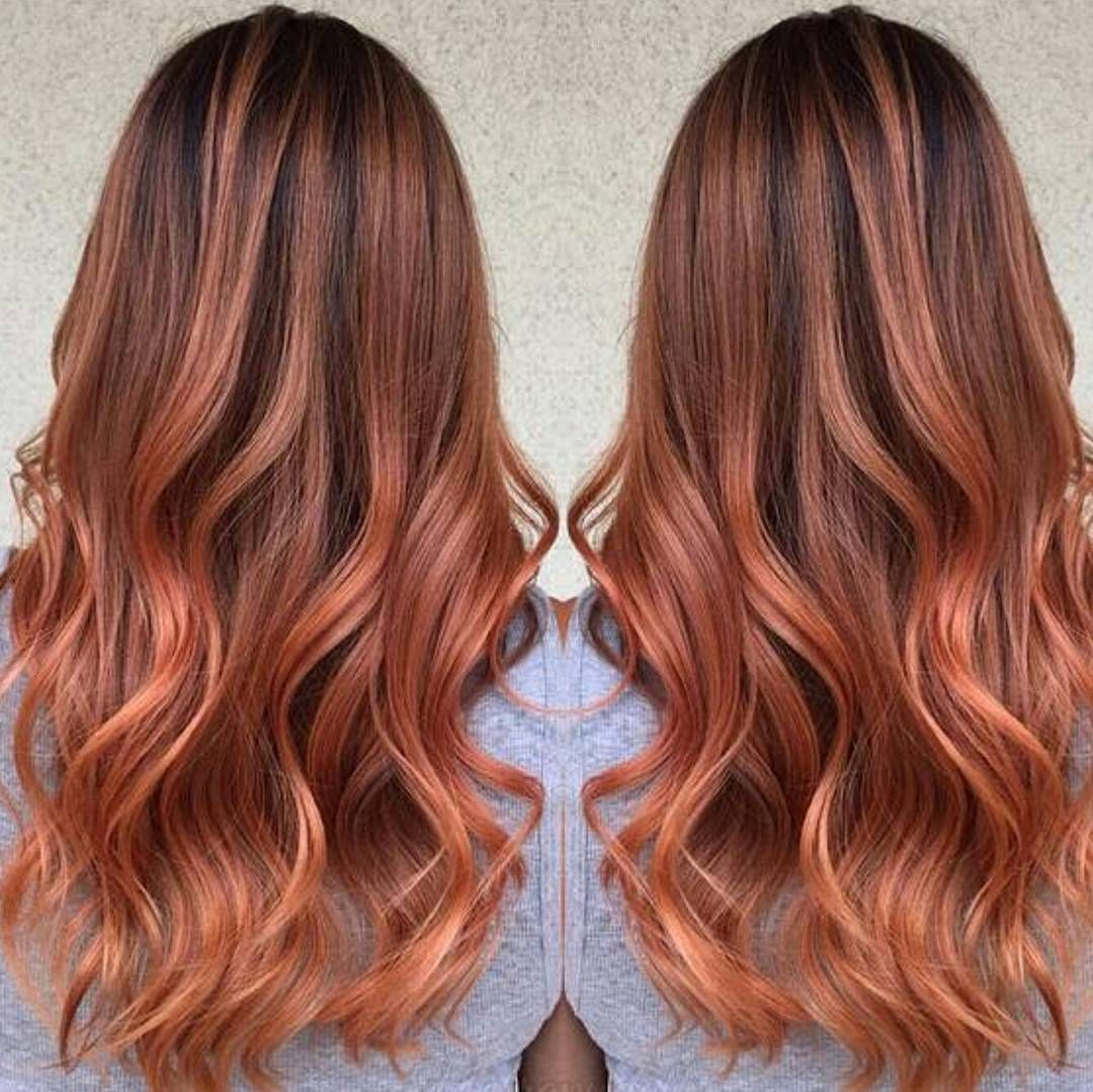 Behind The Chair Ombre Fall Deep Rose Gold By Hairapydoll Via Our Friends At