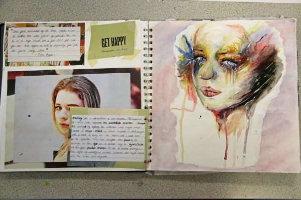 Artist Page Layout Critical Contextual Layouts And Sketchbooks