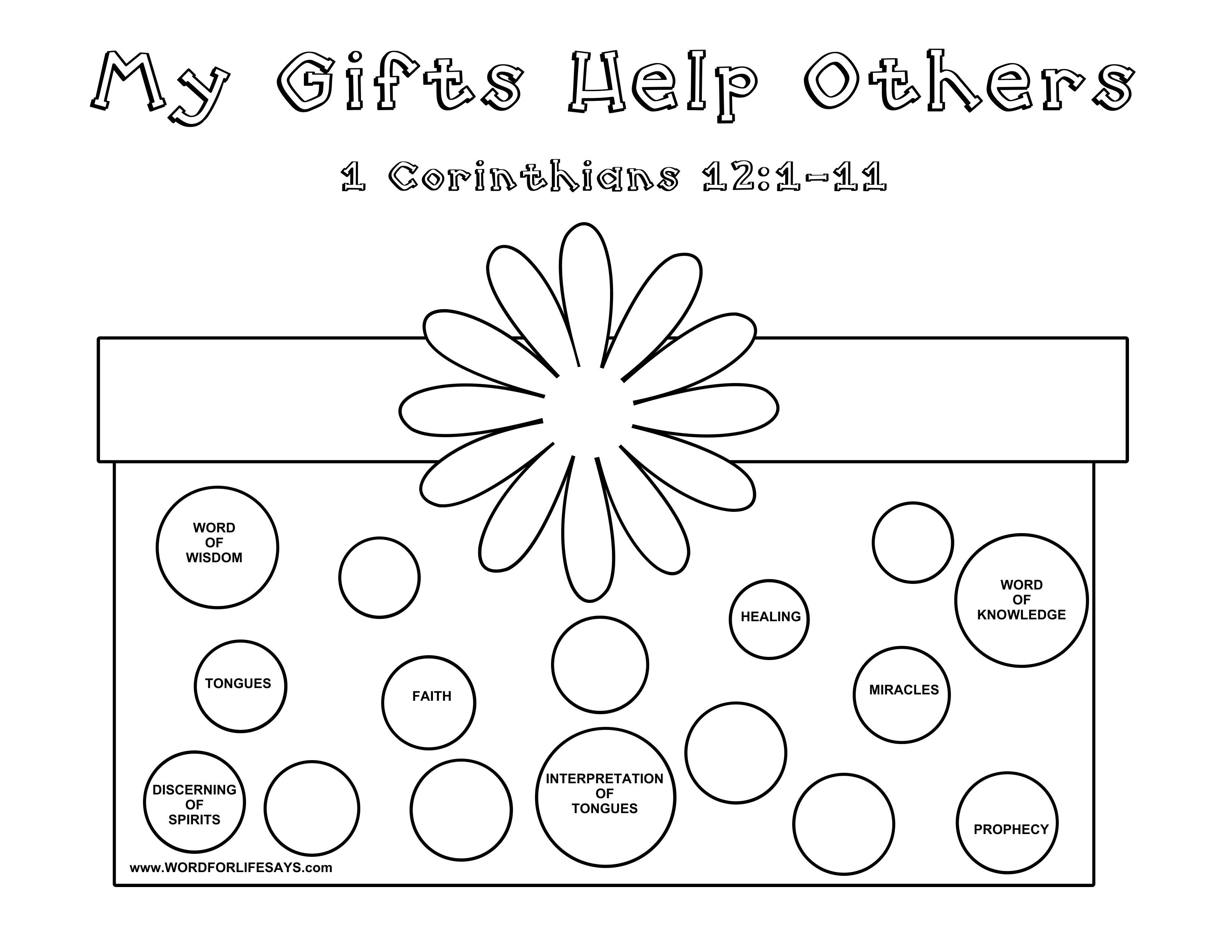 Gifts Of The Spirit Sunday Lesson 1 Corinthians 12 11