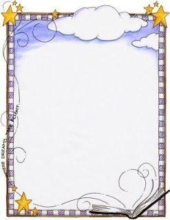 whimsical stars clipart frames