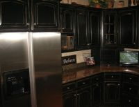 Black Distressed Kitchen Cabinets | Black Distressed ...