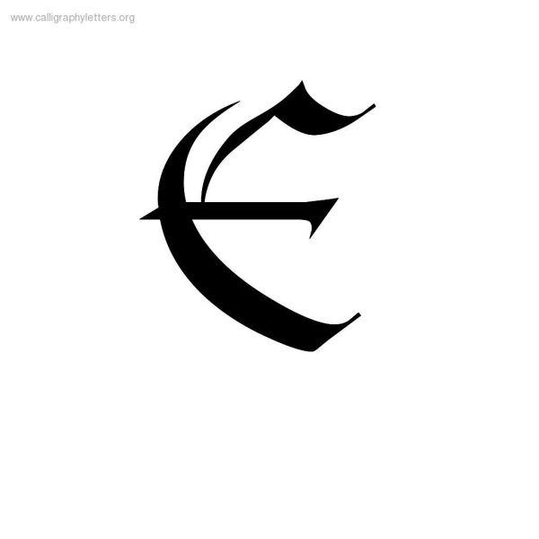 calligraphyletterejpg 10241024 letter quotE