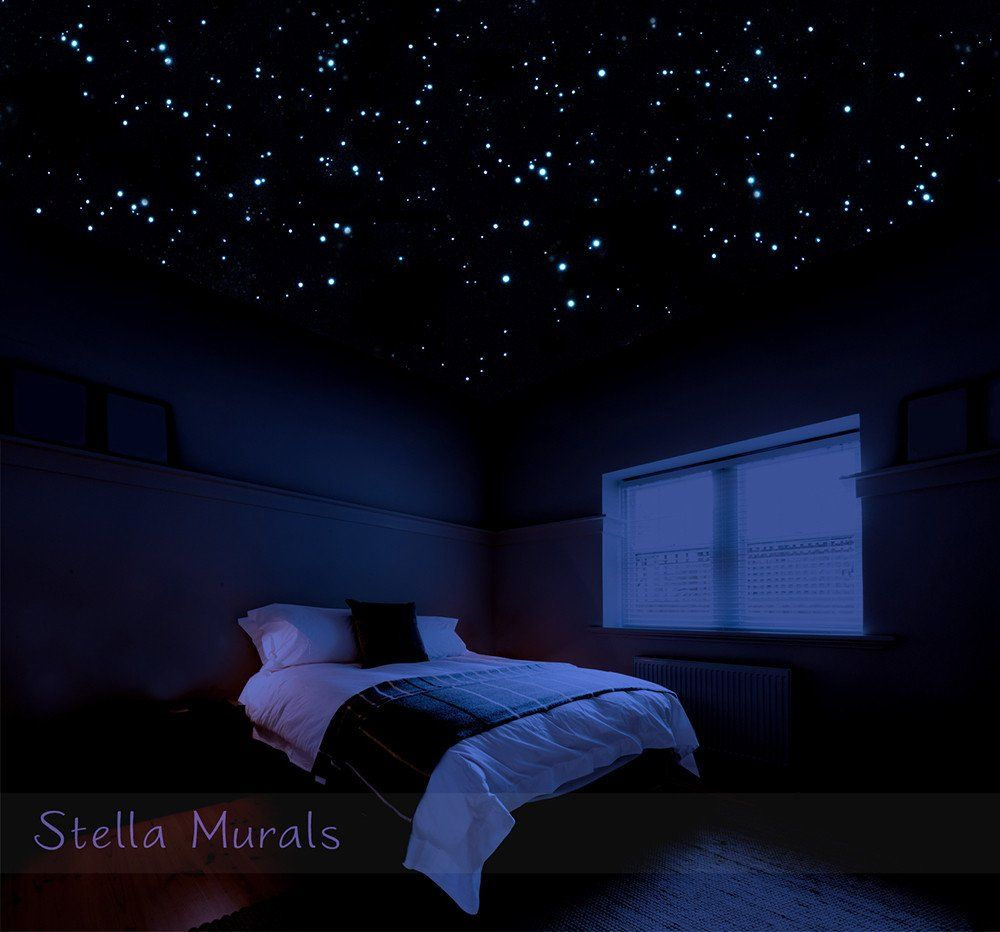 Glow in the dark star stickers for realistic ceiling stars also rh pinterest