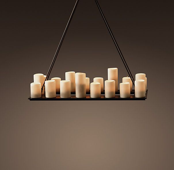 Pillar Candle Rectangular Chandelier Small From Restoration Hardware For 1300 I Think Ll