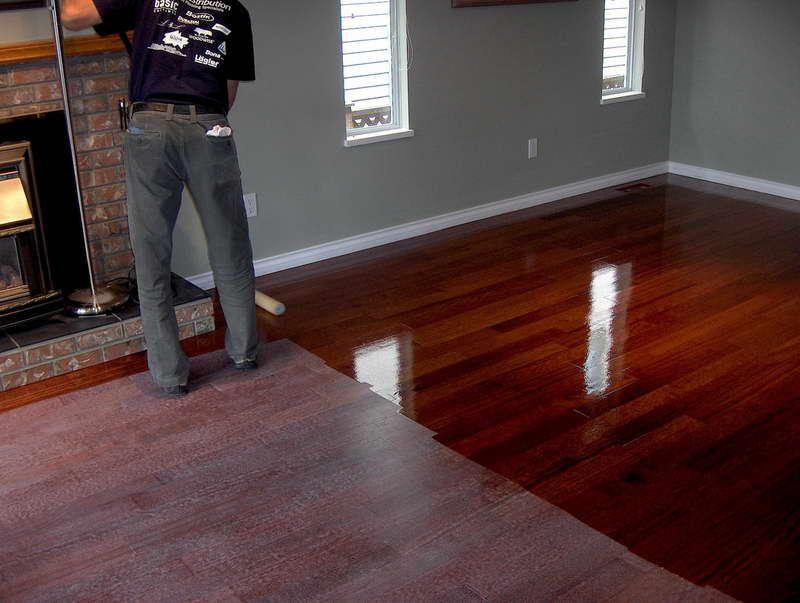Dark grey walls with cherry floorboards pinteres