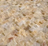 Mini Split Face Stone Tile Honey Onyx | Stone tiles, Stone ...