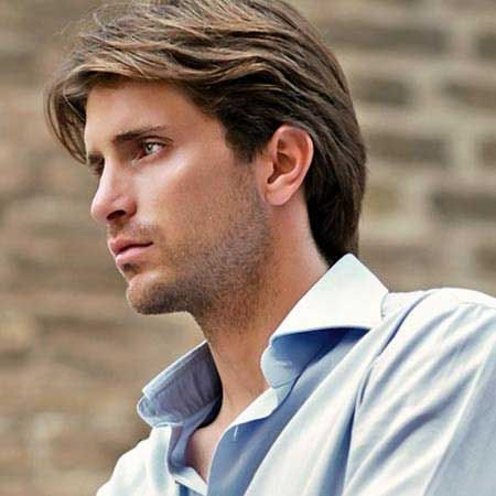 Men's Male Medium Length Hairstyles Over 40 Medium Men Length