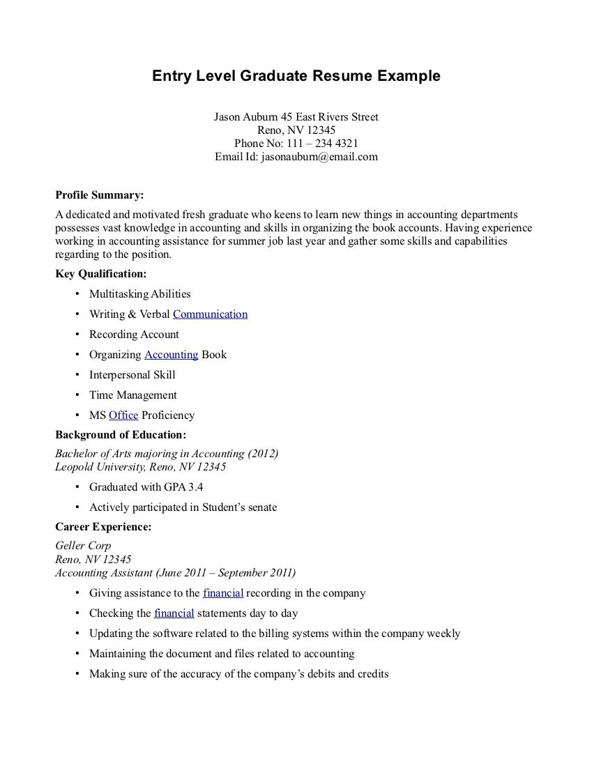 Medical Assistant Resume Graduate Resumecareer Info
