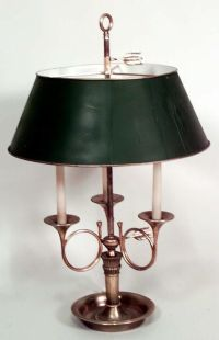 French Empire lighting bouillotte lamp brass