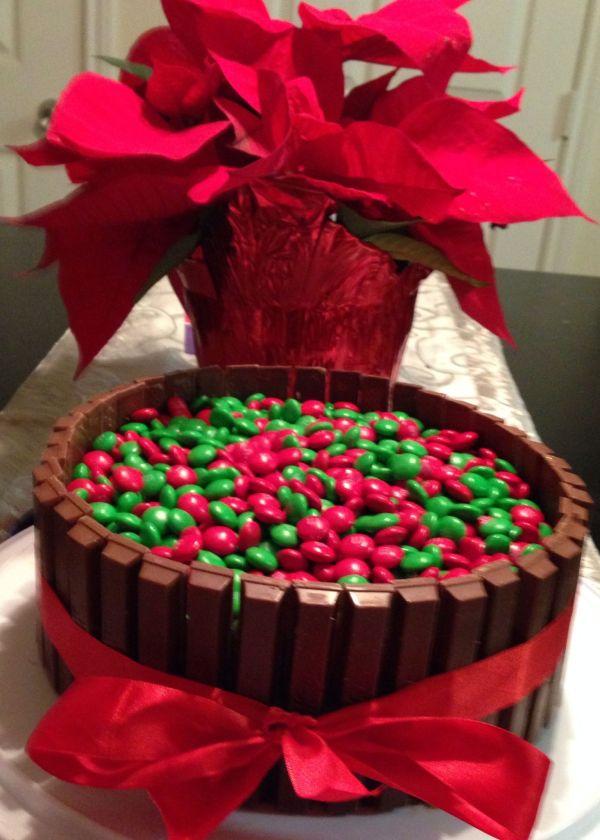 Christmas Kit Kat Cake 1 Red Ribbon 12 Oz Bag Holiday