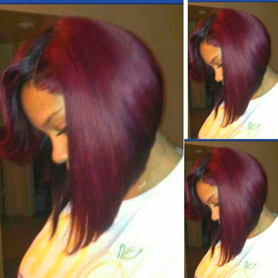 Burgundy Bob Hair & Nails Pinterest Bobs Burgundy And Colors