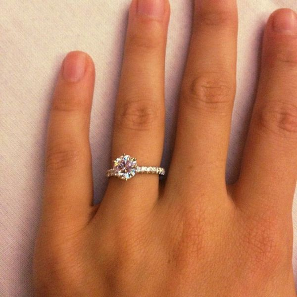 15 Carat Diamond Engagement Ring Thin Band 4 Future