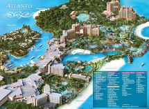 Atlantis Paradise Island Nassau Bahamas Map