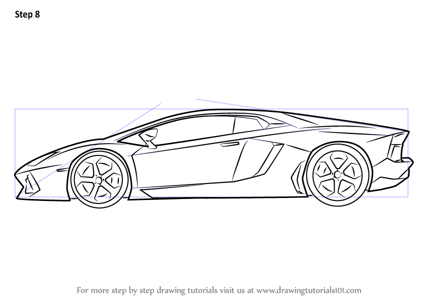 Cars Wallpaper Infront Of Skyline How To Draw Lamborghini Centenario Side View
