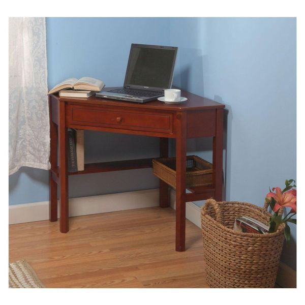 Vintage Corner Desk Computer Neat Small