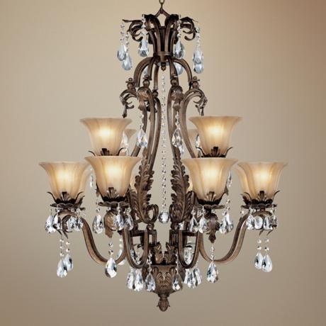 Twelve Light With Crystal Accents Chandelier Lampsplus